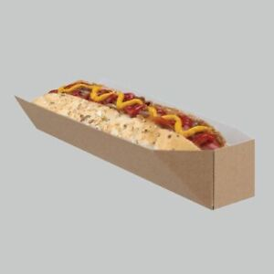 x10 Disposable Takeaway BBQ Cardboard HOT DOG holder Fast Food Packaging box