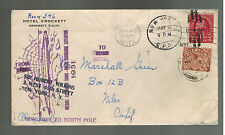 1931 London England to Usa Cover North Pole Hubert Wilkins Submarine Expedition