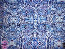 ITY Knit Makina Ink Paisley Purple Blue Polyester Lycra Jersey Fabric