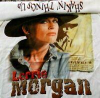 Lorrie Morgan Men's 2xl xxl White Tour T Shirt Tee Vintage Single Stitch 8102099