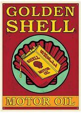 Shell Golden Motor Oil metal sign 410mm x 300mm  (rh)