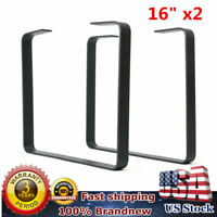 2PCS 16'' Industry Black Table Leg Metal Steel Chair Bench Legs DIY Furniture