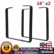 2PCS 16'' Industry Black Table Leg Metal Steel Chair Bench Legs DIY Furniture