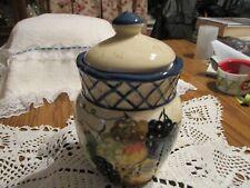 Raymond Waites   Studio Still Life   Blue Lattice Fruit   Jar with Sealed Lid