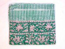 Indian Sarong Beach Hand Block Print Pareo Cotton Floral Wear Cover Scarf