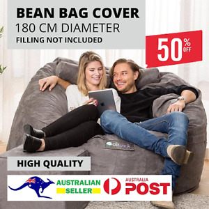 EXTRA LARGE HIGH QUALITY Microsuede Large Bean Bag Cover (180 CM DIAMETER)