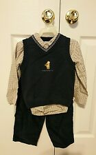 NEW NWT Disney Store 3 piece Winnie the Pooh Shirt Pants Vest Outfit Set 3T