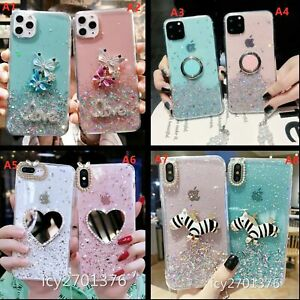 for Samsung Galaxy Phone Case & Lanyard , Sparkle Bling Soft Protective Cover C