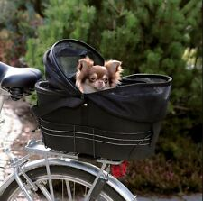Trixie Dog Bicycle Biker Carrier Cat Puppy Small Pet Basket Travel Black 13118