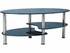 Chrome Less than 60cm Modern Coffee Tables with Shelves