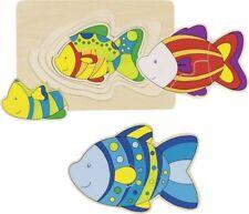 Schichtenpuzzle Fisch, Kinderpuzzle, Holzpuzzle