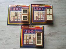 Lot de 3 Lundby of Sweden Bibliothèque Meuble Modulaire Lido Maison de Poupées