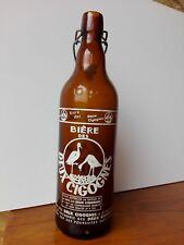 BOUTEILLE sérigraphié bière des deux cigognes vintage collection crêperie 100 cl