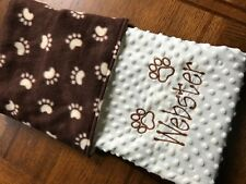Personalized Embroidered Puppy Blanket Dog Blanket Small Size 18 x 22