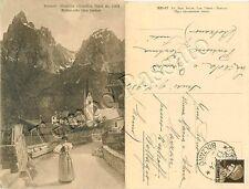 Postcard di Siusi the Sciliar Castelrotto (), traditional costume-Bolzano