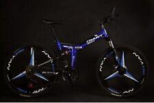 "Mtb Folding Bike Speed Double Disc Brake Suspension 26"" 3 Blade High-quality New"