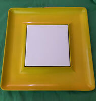 BE A HIT AT PARTY VTG Georges Briard Boutique Hors d'oeuvre Tray Yellow/Orange
