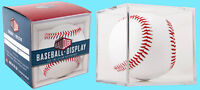 BALLQUBE BASEBALL DISPLAY CASE Clear NEW MLB Square Ball Holder Stackable Cube