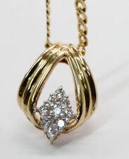 "Splendid 7.3 DWT 14K Yellow Gold .25 Carat TW Diamond Charm in 20"" Necklace"