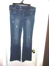 Almost Famous Distressed Denim Blue Jeans Juniors 15