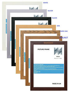 PICTURE FRAMES SELECTION 4U A1 A2 A3 A4 A5 BLACK,OAK,WHITE AND MORE