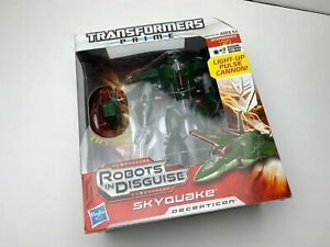 TRANSFORMERS PRIME ROBOTS IN DISGUISE VOYAGER CLASS  DECEPTICON SKYQUAKE RID