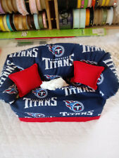NFL TENNESSEE TITANS TISSUE BOX COVER HANDMADE RED PILLOWS
