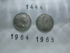 Lot 1444: CANADA Silver dimes 10 cents (2) 1964 1965 FREE SHIPPING