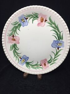 Blue Ridge Pottery  10 Inch Sweet Pea Colonial Plate