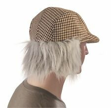 Gray Old Man Hat & Wig Adult Halloween Costume Cap