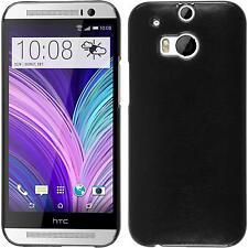 HTC One M8 Case Hardcover Slimcase Black Protective Foils