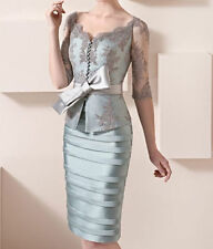 New Mother Of the Bride Dresses Knee Length Wedding Guest Gown With Half Sleeves