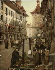 P.Z. Suisse, Bern, Zeitglocken Thurm Vintage Print, Switzerland  photochromie,
