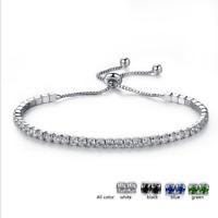 Charm Women CZ Crystal Rhinestone Plated Adjustable Bracelet Bangle Jewelry