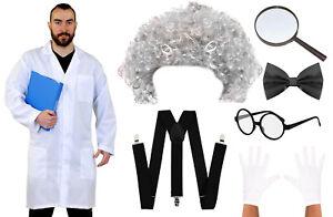 MAD SCIENTIST COSTUME SET CRAZY PROFESSOR WORLD BOOK DAY KIDS ADULT FANCY DRESS
