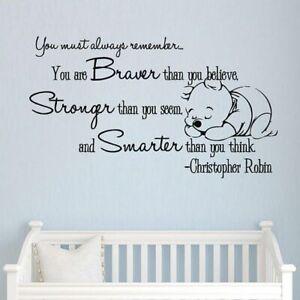 Winnie the Pooh Wall Sticker Decal Children home Decor Nursery