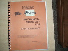 Mazak Mechanical Parts List for Mazatech H500/50