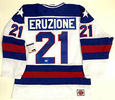 Mike Eruzione 1980 Team Usa Olympics Signed Jersey Psa/Dna Coa With 1980 Gold