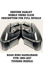 OEM Harley Davidson Road King Black Leather Saddle Bags Saddlebags FLHR 2009