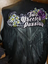 "Patch ecusson  "" 2 wheeled passion "" strass harley,moto;biker,chopper,usa, lady"