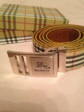 Womans New Burberry Belt In Matching Box