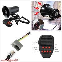 12V 100W 150DB Car SUV 7 Sound Loud Warning Alarm Siren Horn Speaker With PA Mic