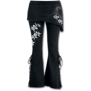 Spiral Direct PURE OF HEART 2IN1 BOOT-CUT LEGGINGS WITH MICRO SLANT SKIRT/Pants