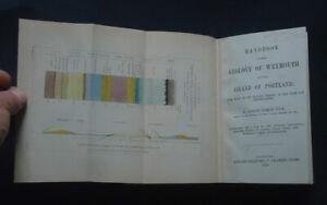 HANDBOOK TO THE GEOLOGY OF WEYMOUTH & ISLAND OF PORTLAND by R. Damon: Maps 1864