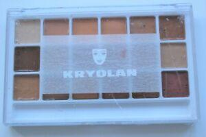 Kryolan Body Illustration Make-up colours palette 18 colours 'Flesh Tone'