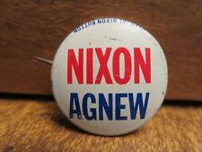 1972 NIXON-AGNEW PINBACK POLITICAL BADGE (White Field)