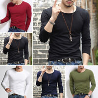 Men Long Sleeve Baseball T-Shirt Raglan Jersey Hipster Tee Fashion Crew Neck Tee