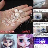 100 x 14 mm diy oeil de verre chips de blyth poupée oeil accessoires