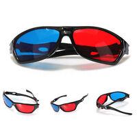 Red & Blue Plasma TV Movie Dimensional Anaglyph Framed 3D Vision Game Glasses