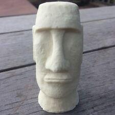 Miniature White Desktop Easter Island Head Statue/Feature/Decoration/Ornament